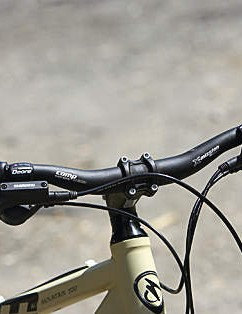 Many riders will want a wider bar than the 24in one fitted