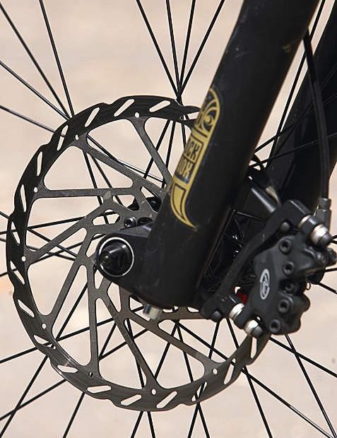 Big rotors make for extremely powerful braking