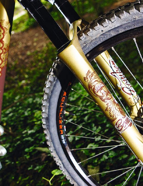 The exclusivity continues with these blinged-out Marzocchi forks