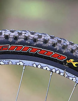 Want more grip and cushioning on the mud? Switch the narrow tyres for something a bit more forgiving