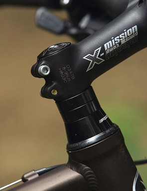 The Merida's high stack headset combined with extra washers can make the front wheel wander up when you're climbing