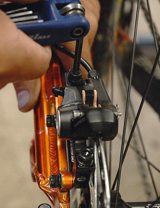 Put the wheels into the bike.