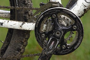 The double and bash chainset means no more worries about rocks and logs
