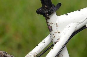 Round seatstays and a skinny seatpost take some sting out of the beefy tubed frame