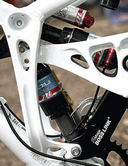 Each shock can be tuned separately to produce a massive amount of grip
