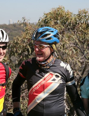 With Trek Australia's James Collins (left) and Ian Stewart (right)