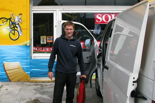 Martyn Jones prepares in Brest