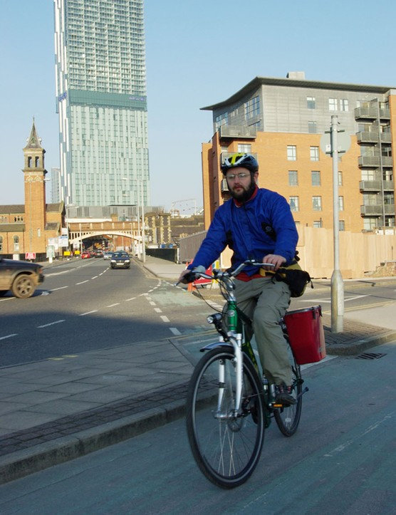 Manchester has some decent cycle paths despite low cycling levels