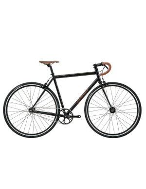 The Marin Ignacio is a road fixie designed with 4130 cromoly steel frameset, high-flange flip-flop hub, Sugino cranks, leather saddle and matching