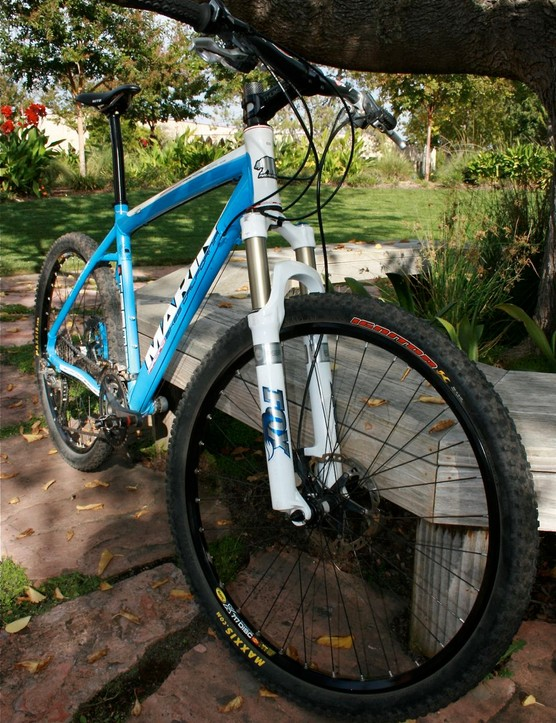 Marin uses Scandium-enriched aluminium that's triple-butted, hydro-formed and dripping with XTR, Thomson, Fox and WTB.