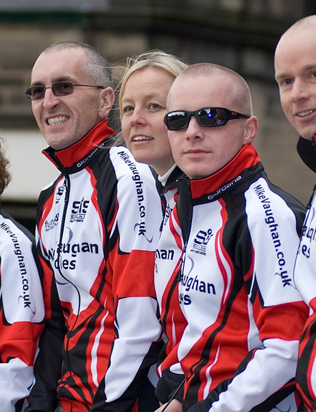 Matt Clinton's colleagues from Mike Vaughan Cycles