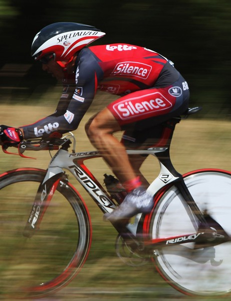 McEwen wearing his old livery in the Tour de France