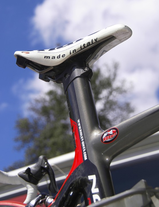 The deep-profile integrated seatpost probably doesn't provide the smoothest ride but McEwen likely isn't going to care much about that