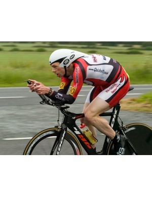 Michael Hutchinson en route to his third national title of 2008 - this time it was the 50