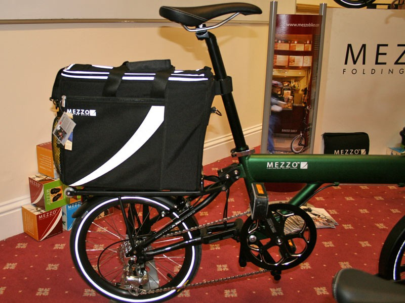 Mezzo also showed off this rather nifty pannier in the style of a moto top box