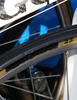 …were outfitted with rarely seen Dugast road tubulars.