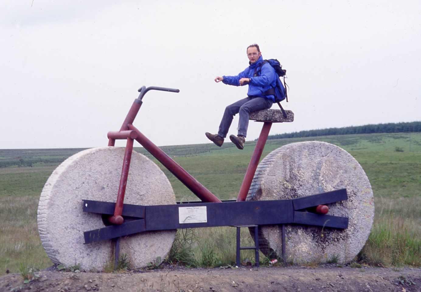 Bedrock Bike sculpture on the railpath