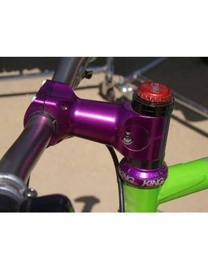 Among the custom purple bits on the Niner was a bright Thomson stem.  Want one?