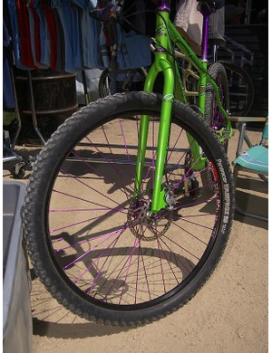 Even Industry Nine got into the act with these purple hubs and spokes. Say it isn't so!