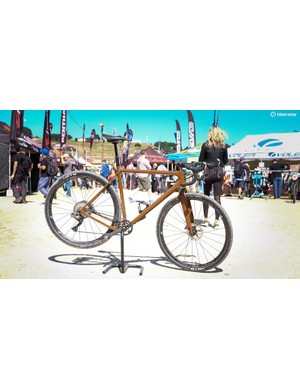 Open's UP gravel bike is still a head turner. Shown here is company founder Gerard Vroomen's personal bike