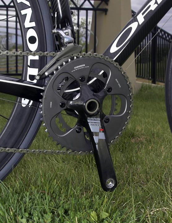 We went with the compact version of SRAM's Red crankset