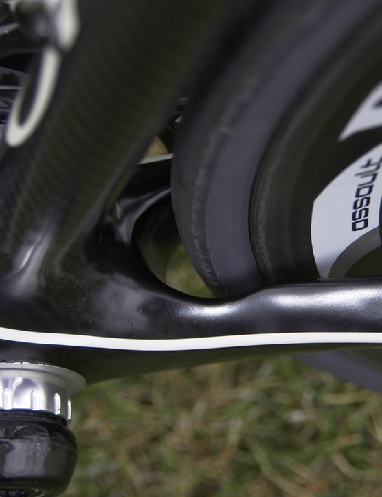There's a surprisingly amount of room for wider tyres
