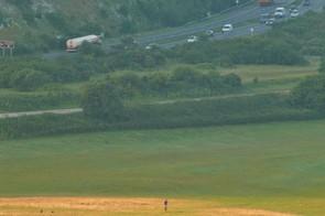 Start of Butser Hill climb