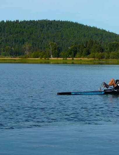 Kolodziejzyk also holds a Guinness world record for the most distance travelled in a pedal-powered boat.