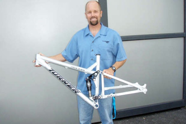 Dave Turner with one of his new dw-link frames