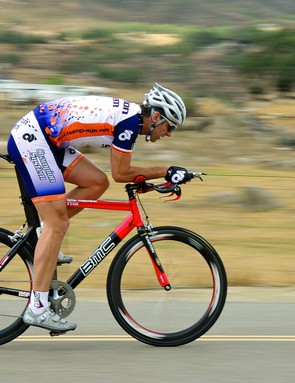 Frankie Andreu gets down to business on the BMC Time Machine TT02
