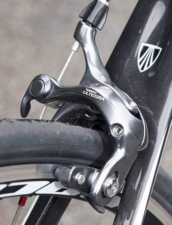 The Ultegra SL brakes are the high point of the new dark grey group