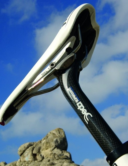 Marcel was impressed by the comfortable yet suitably flash-looking Flite Gel Flow saddle