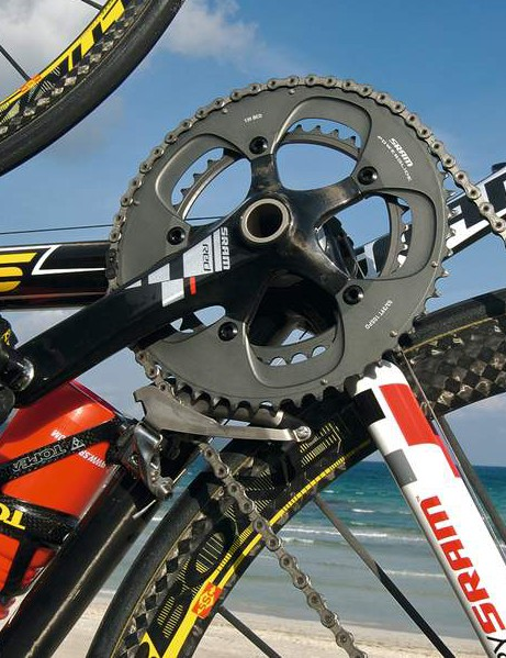 SRAM's Red groupset is the lightest on the market, weighing just 1,953g