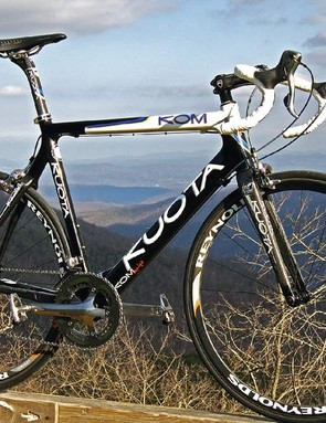 The Kuota KOM Equipe – a stunning distraction from a spectacular panorama