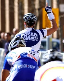 Cycling : Routa Del Sol / Stage 4 PETACCHI Alessandro ( Ita ) Celebration Joie Vreugde / BOONEN Tom ( Bel )  Stage 4 : La Guardia de Jaen - Cordoba Vuelta Andalucia Etape / Rit