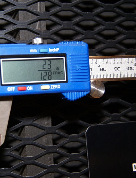 The Park DC-1 digital caliper can read in metric, decimal and fractional standards