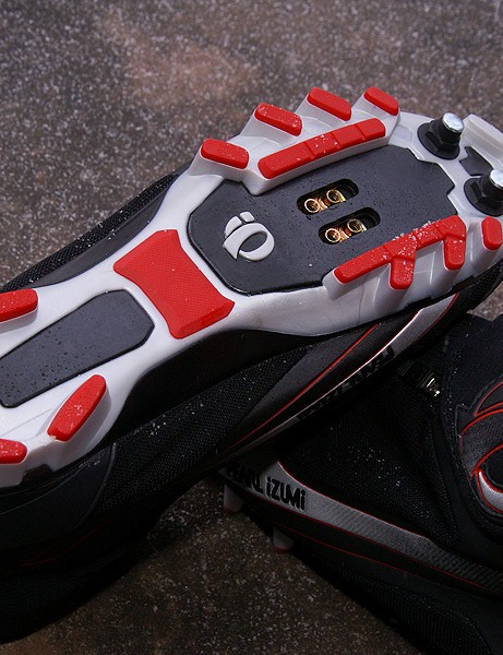An aggressive outsole promises good traction in snow.