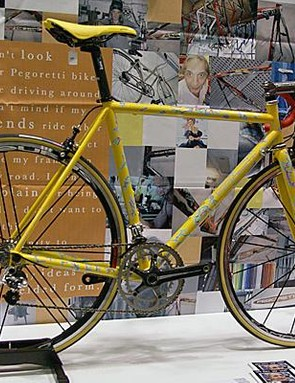 Pegoretti's stainless steel Responsorium model made another appearance this year.