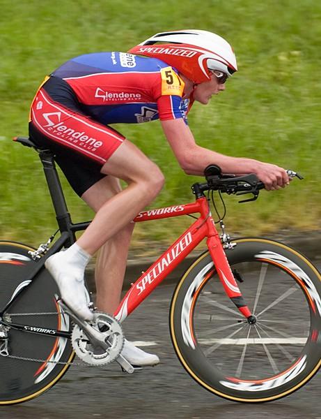 Joe Perrett was third in the junior race