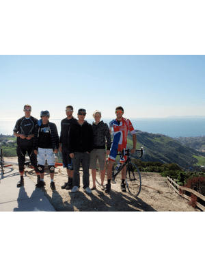 The crew at the 'top of the world' at Laguna Beach