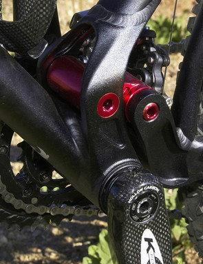 The press-fit bottom bracket cups allow for a monstrously burly bottom end. Flex? Not a problem here