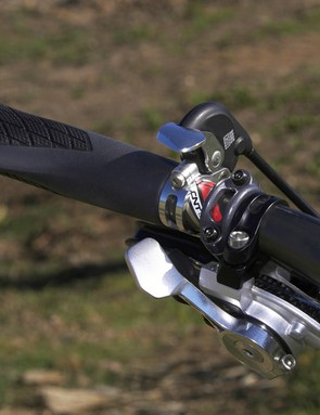 We had to flip our PushLoc remote lever upside-down for a better fit with our selected components but the lever was still easy to access on the fly