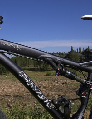 The top tube transitions from a square profile up front to a round profile at the seat tube
