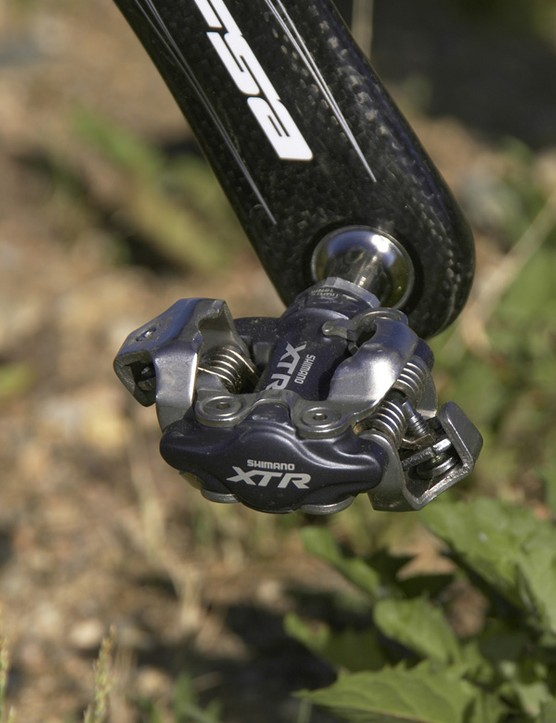 Shimano XTR pedals aren't the lightest around but they're among the most bulletproof and consistent on the market