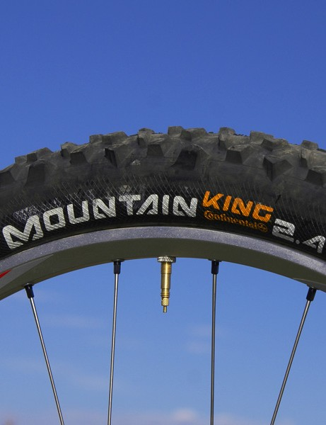 The Continental Mountain King 2.4 was a supremely versatile tire that also rolled faster than its appearance would suggest. Best to mount it on a wider rim, though