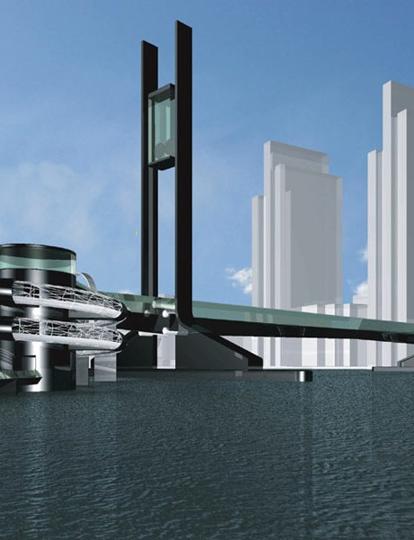 The planned bridge would be the longest of its type in the world
