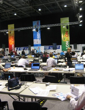 The press room will be a lot busier than this tomorrow