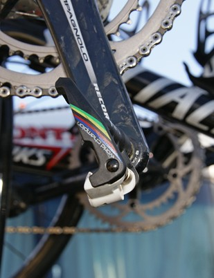 Bettini's pedals get the rainbow stripes, too…