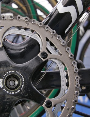 Like most riders today, Boonen opted for a rather largish 53/46T chainring combination.