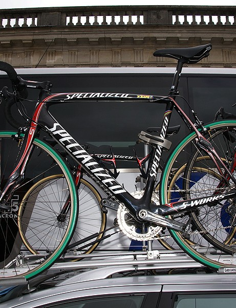 We had previously reported Boonen's machine to be a standard piece of kit. But It's anything but.